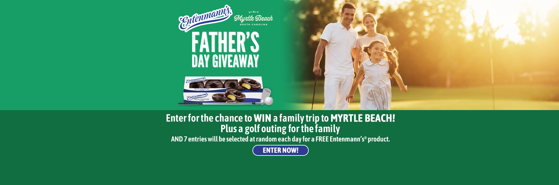Father's Day Giveaway with Entenmann's® & Visit Myrtle Beach
