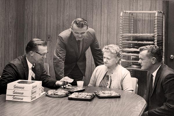 Martha Entenmann at a meeting