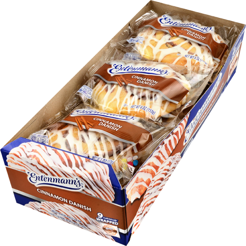 Club pack Cinnamon Danish Individually Wrapped 9 count