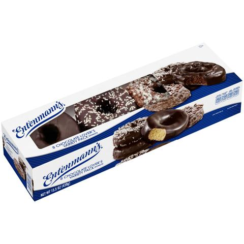 8 Chocolate Lover's Variety Pack Donuts