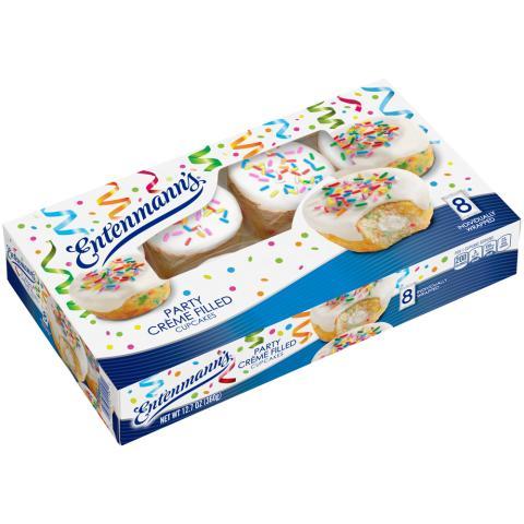 Party Crème Filled Cupcakes 8pk