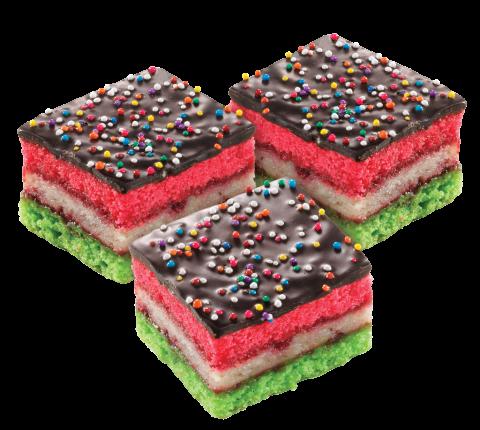 Rainbow Square Cookies