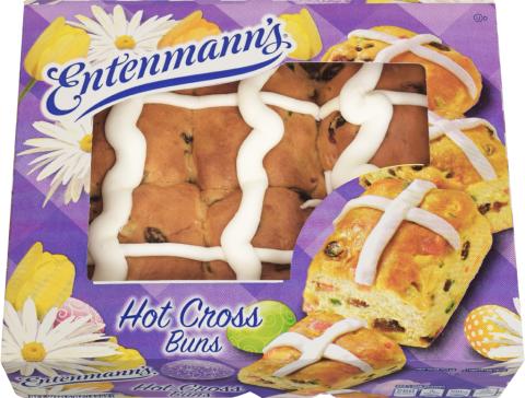 Entenmann's Hot Cross Buns package shot