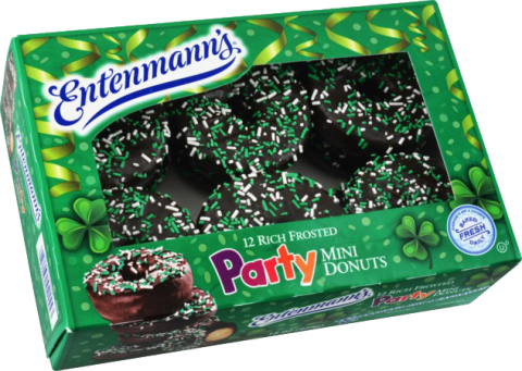 Saint Patrick's Day Party Mini Sprinkled Rich Frosted Donuts