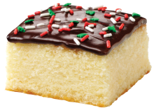 Holiday Iced Golden Cake