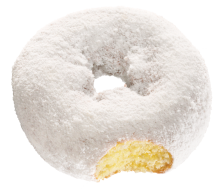 White Powder Softee Donut