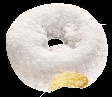 White Powder Softee Donut