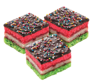 Rainbow Square Cookies