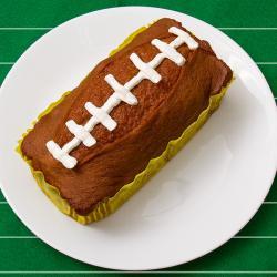 Pumpkin Loaf Cake Football