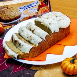 Entenmann's Pumpkin Loaf Cake with Cream Cheese Frosting